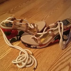 Sperry topsider milly wedge lace up new size 9.5